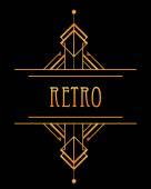Art-Deco geometrisches retro Muster