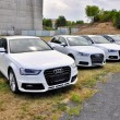 Постер, плакат: Cars Audi parks in row