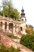 Royal Garden of Prague Castle. Autumn outdoors.