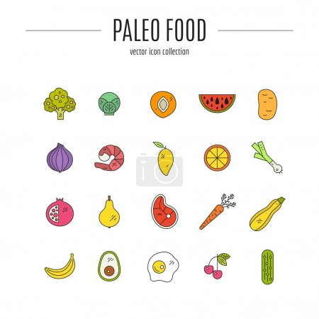 Paleo Food icons
