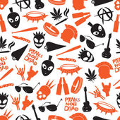 Various color punk icons seamless pattern eps10
