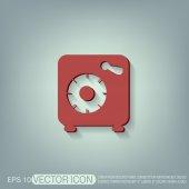 Bankovní trezor bezpečné ikona