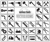 Set of tool icons Vector illustration
