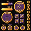 Постер, плакат: Golden stylish game interface woth level completion