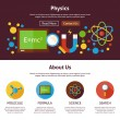 ������, ������: Physics Science Flat Web Design Template