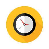 Illustration of Deadline Clock Flat Circle Icon