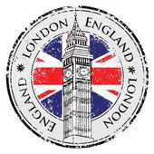 Gumi grunge bélyegző london Nagy-Britannia