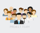 Vector illustration of project team Flat avatars