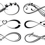 Постер, плакат: Infinity love forever symbol