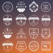 Vector Set of Badges, Logos and Sign Break Dance