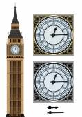 Landmark Big Ben and the clock Vector illustration on isolated white background