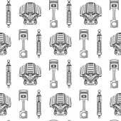 Vektorové bezešvé pattern dílů