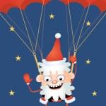 Постер, плакат: Crazy Santa parachutist