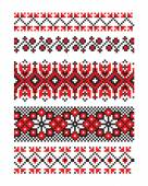 Colourful pattern of an embroidery a cross from the Ukrainian ethnos
