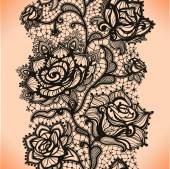 Abstract seamless lace pattern with flowers roses