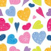 Colorful hearts seamless pattern background