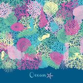 Mořské bezešvé vzor