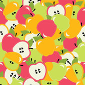 Colorful seamless pattern with apples