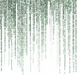 Постер, плакат: Matrix code on white background