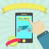 Buy motorcycle online through phone