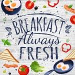 Постер, плакат: Breakfast poster chalkboard