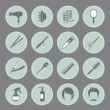 ������, ������: Round hairdressing equipment icons