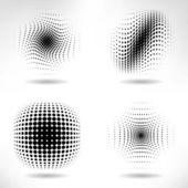 Sada prvků návrhu abstraktní polotónů