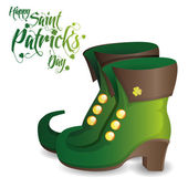 A pair of traditional boots and text for patricks day