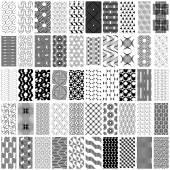 Sada 50 černobílých geometrických bezešvé pattern