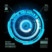 Sci fi Futuristic user interface infographics HUD technology vector background