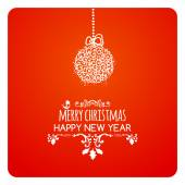 Merry christmas card wishes typography vector
