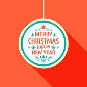 Merry Christmas frame template flat vector illustration