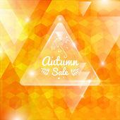 Vector illustration of Autumn abstract background - autumn sale