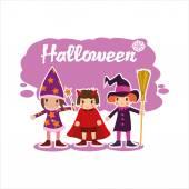 Plochá Halloween děti