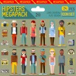 Hipsters megapack icons