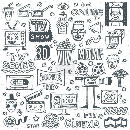Постер, плакат: TV Shows Series and Movies, холст на подрамнике