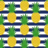 Seamless pineapples background Cute vector pineapple pattern Summer fruit illustration
