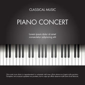 Classic music piano background for poster web leaflet magazine Vector illustration