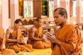 Sakonnakhon, Thajsko Prosinec 23: Nově vysvěcen buddhistický mnich p