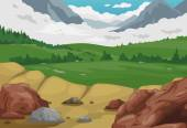 Illustration of mountains landscape background vector
