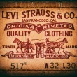 Постер, плакат: Levis jeans label Close up