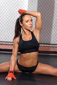 Ženské kickboxer představuje v kruhu