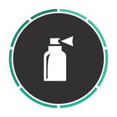 Spray Simple flat white vector pictogram on black circle Illustration icon