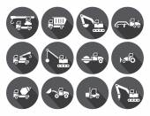 Truck Baukasten, kreisförmigen Etiketten