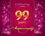 Created anniversary card in vector