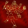 Постер, плакат: Hindu deity lord Shiva on a sparkling red background vector eps 10