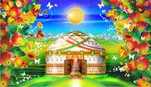 House yurt yurt wedding autumn summer cottage baskur shanyrak summer house village