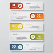 Design clean number banners template/graphic or website layout Vector