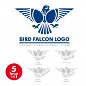 Template corporate company signs Bird eagle falcon Corporate style Male logo Serious rigorous