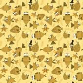 Cute fish seamless pattern.